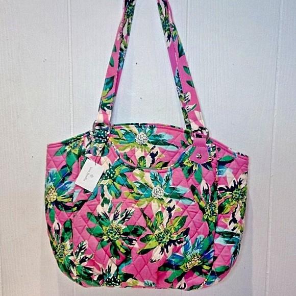 f13e58153c5e Vera Bradley Glenna Shoulder Bag tropical Paradise